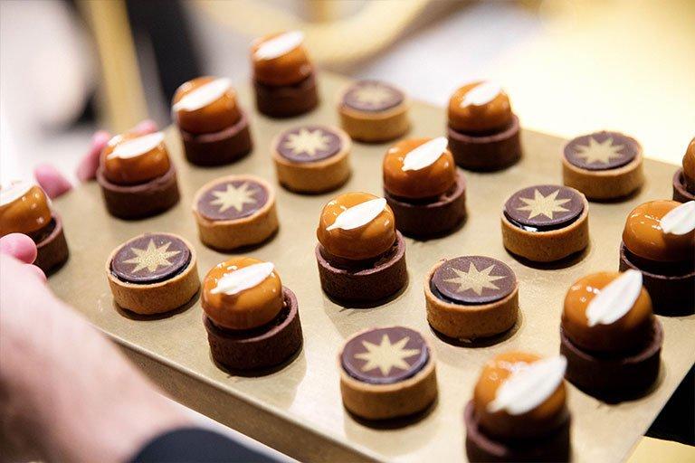Dessert tray at the Bulgari Chadstone launch