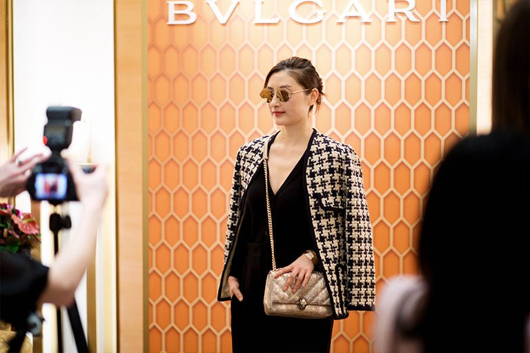 Bulgari Chadstone launch stylish guest