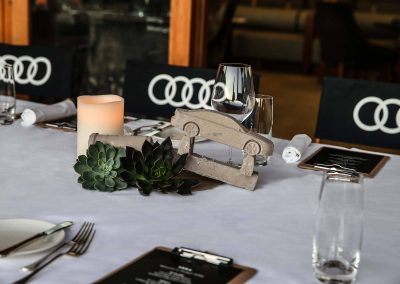 Table setting Audi A8 and S8 Media Launch