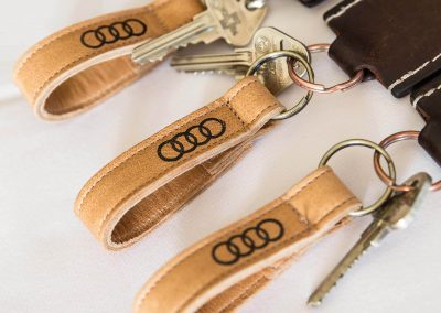 Leather key holders Audi A8 and S8 Media Launch