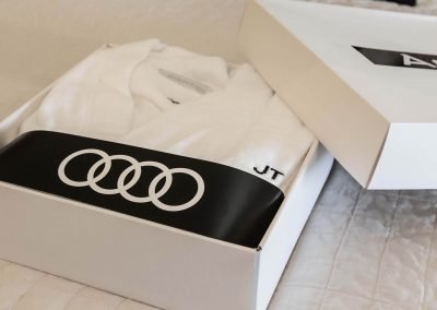 t shirt in box Audi A8 and S8 Media Launch