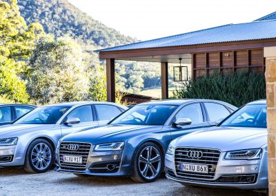 Cars parked Audi A8 and S8 Media Launch