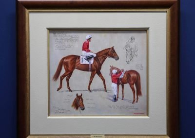 Drawing framed on wall Australian Turf Club Heritage Exhibition