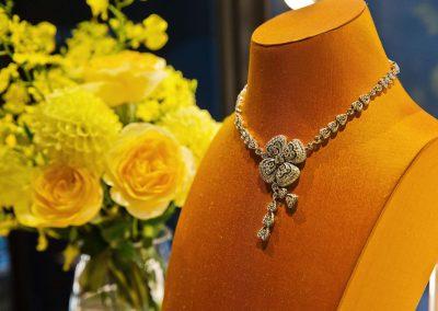 Diamond necklace at the Bulgari Fiorever Launch