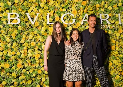 Guests on the yellow carpet at the Bulgari Fiorever Launch