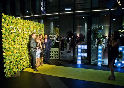 Guests having their photo taken at the Bulgari Fiorever Launch
