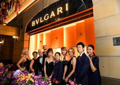 Group photo at the Bulgari Sydney Boutique Launch