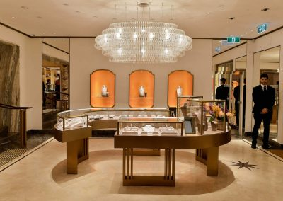 Jewellery diaply at the Bulgari Sydney Boutique Launch