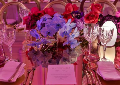 Place setting at the Bulgari Sydney Boutique Launch