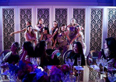 Dancers showcasing Bulgari jewellery