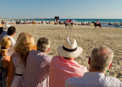 Spectators watching game Cable Beach Broome Polo Tournament
