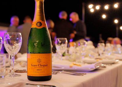 Champagne bottle on table close up Cable Beach Broome Polo Tournament