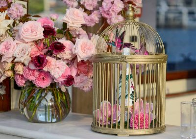 bottle display bird cage Chandon x Seafolly PR launch event