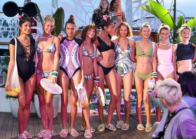 Group female models swimsuits Chandon x Seafolly PR launch event