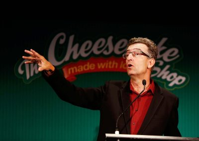 Keynote speaker Cheesecake Shop Franchise Conference