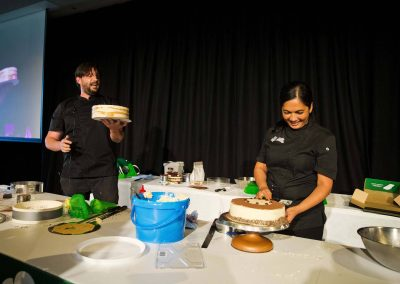 Cheesecake making lesson at the Cheesecake Shop Franchise Conference