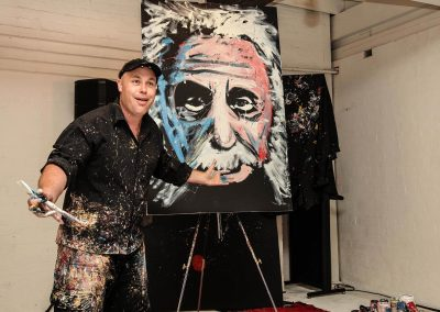 Artist painting Credit Union Australia National Business Strategy