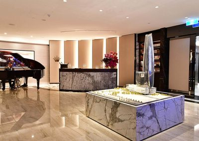 Man playing piano foyer Crown Resorts One Barangaroo launch