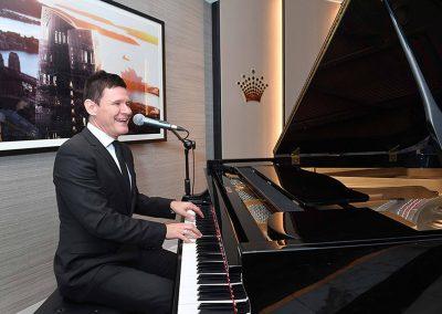 Man playing piano at Crown Resorts One Barangaroo launch
