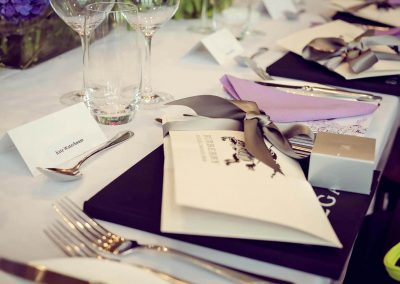 Table menu Crown Resorts Sydney Ladies Luncheon