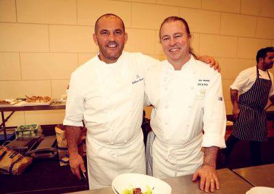 2 chefs smiling posing Crown Resorts Sydney Ladies Luncheon