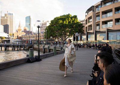 Model walking at the Do Manh Cuong Back to Nature Fashion Parade