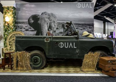 Vintage car display Dual Australia Exhibition Stand Safari Glam