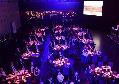 Guests sitting at dining table Engineering Excellence Awards Roadshow