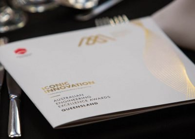 Brochure on dining table Engineering Excellence Awards Roadshow