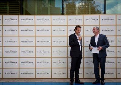 Roger Game, Set & Moet with Roger Federer