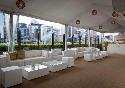 Lounge area Game, Set & Moet with Roger Federer