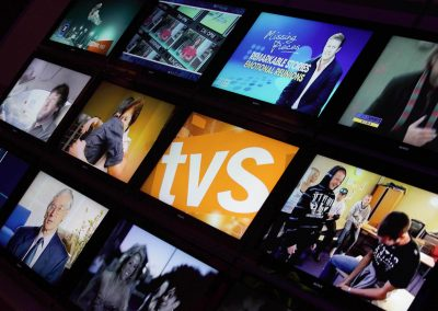 Close up tv screens Get Ready for Digital TV Switchover Conference