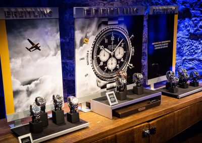 Watch display Gregory Jewellers & Breitling VIP client dinner
