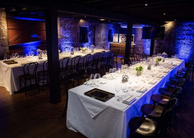 Table setting Gregory Jewellers & Breitling VIP client dinner