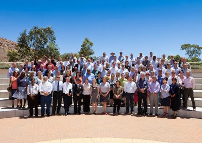 Group photo outside Infrastructure Australia Connecting the Dots Conference