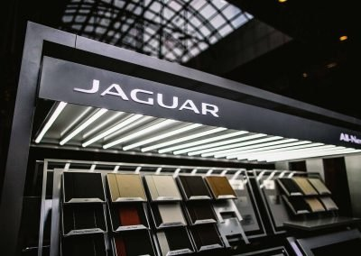 Display cabinet Jaguar XF Australian Launch