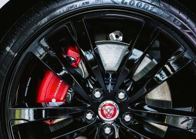 Wheel tyre close up Jaguar XF Australian Launch