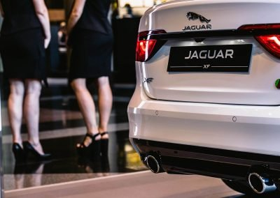Close up back of car Jaguar XF Australian Launch