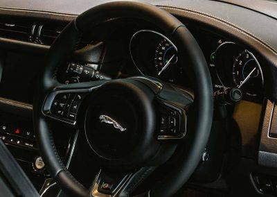 Steering wheel Jaguar XF Australian Launch