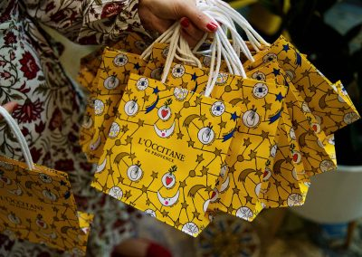 Gift bags at the LOccitance Flagship Store Opening