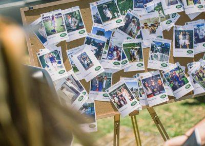 Display polaroid photos guests Land Rover Polo Club for Polo in the City English Polo Garden