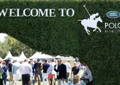 green wall people in background Land Rover Polo Club for Polo in the City Hamptons Polo Club