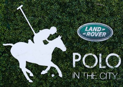 Green wall Land Rover Polo Club for Polo in the City Hamptons Polo Club