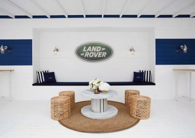 Land Rover sitting area Polo Club for Polo in the City Hamptons Polo Club