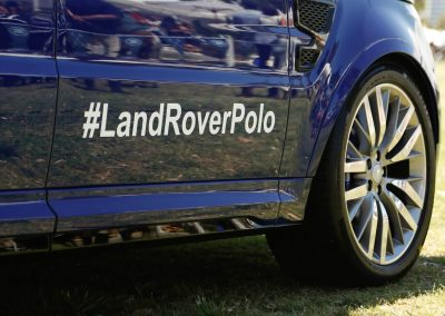 close up car Land Rover Polo Club for Polo in the City Hamptons Polo Club