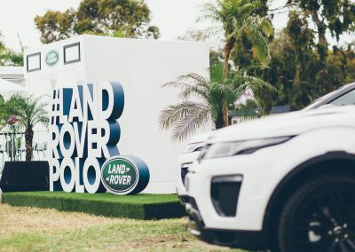 Event entrance Land Rover Polo Club for Polo in the City Miami
