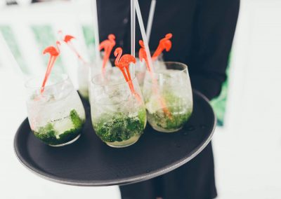 Drinks on plate Land Rover Polo Club for Polo in the City Miami