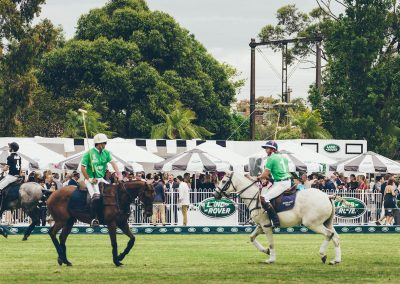 Players horses Land Rover Polo Club for Polo in the City Miami