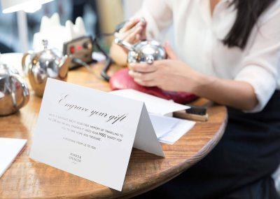 Teapot engraving Marks & Spencer Australian Online Store launch