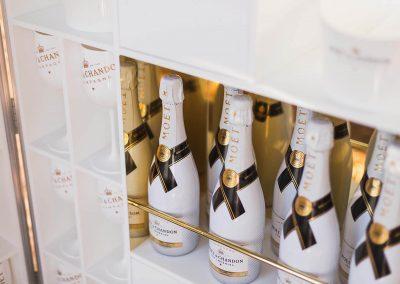 Bottles display close up Moet Dinner en Blanc National Sponsorship Activation
